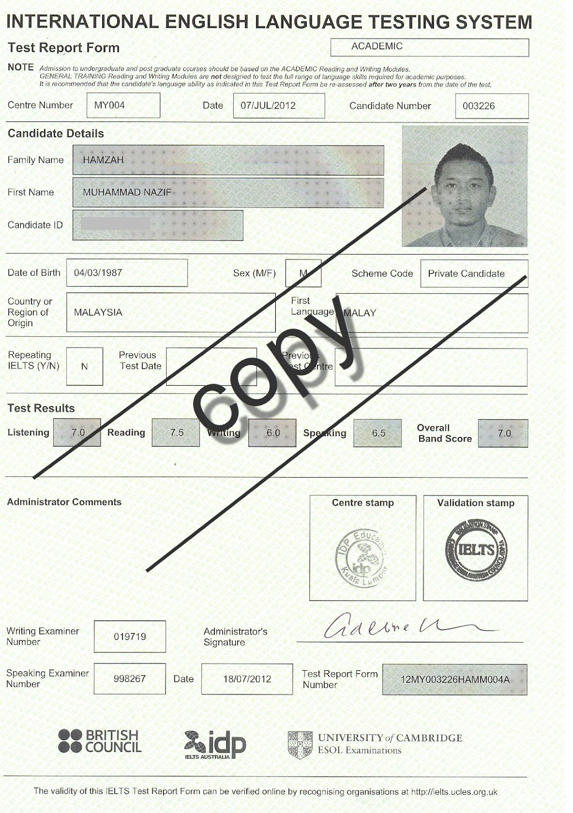 aWesome photo Blog!!: Full IELTS Result 2012