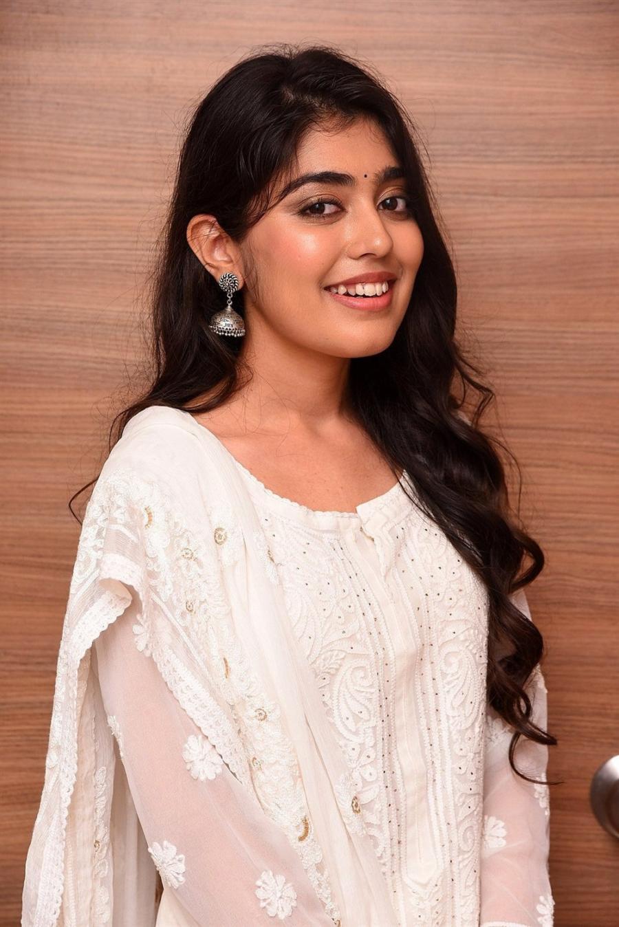 South Indian Girl Gargeyi Yellapragada Smiling Face In White Dress