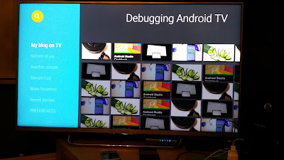 Apps on the big screen part III: Debugging on an Android TV