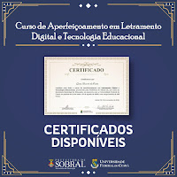 Certificados do Curso Letramento Digital