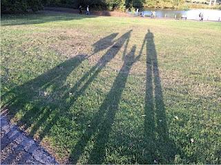 Schattenfamilienportrait
