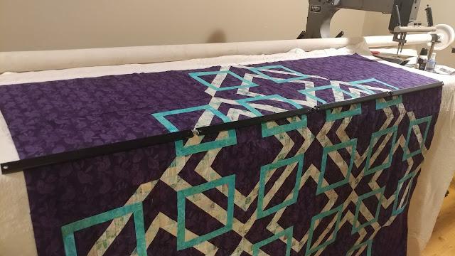 Turning Tiles quilt using Island Batik Lavendula fabrics in McCall's Quilting Jan/Feb 2019 magazine