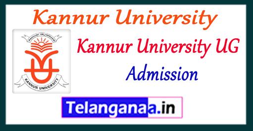 Kannur University B.Sc B.Com BCA BA (UG) Admissions 2017 Application