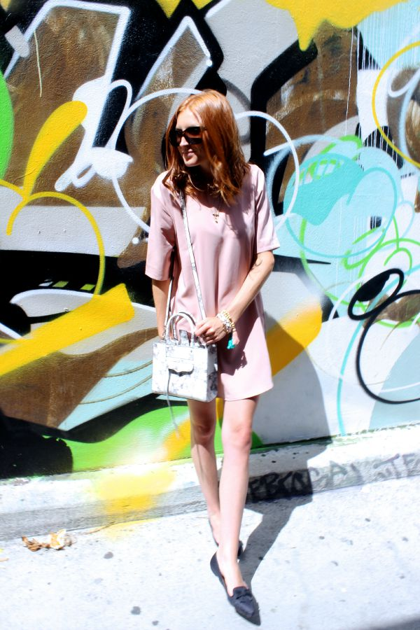 Pink Shift Dress