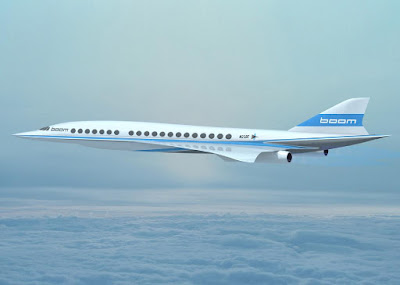 a new supersonic passenger aeroplane that will be able to fly New York to London in 3.5 hours