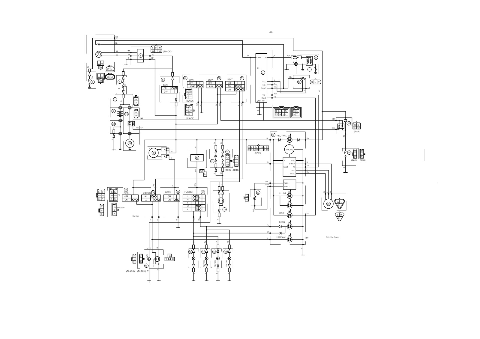 FZ16 (with wiring diagram) | Techy at day, Blogger at noon