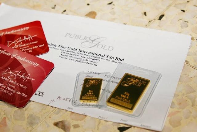 Panduan Memilih Produk Emas Jenama Public Gold (Jongkong)