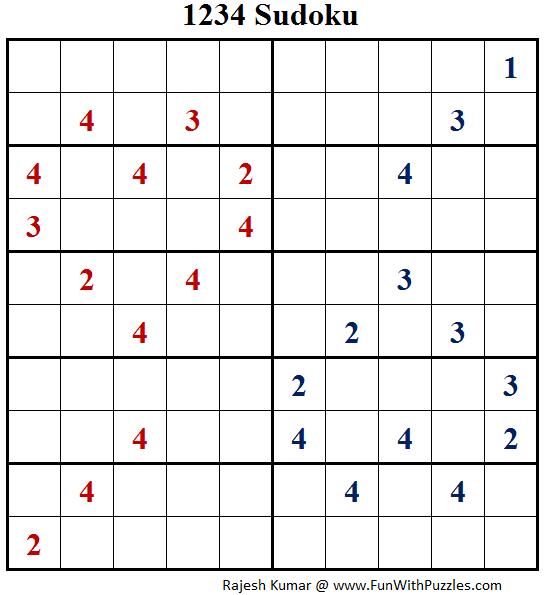 1234 Sudoku (Fun With Sudoku #134)