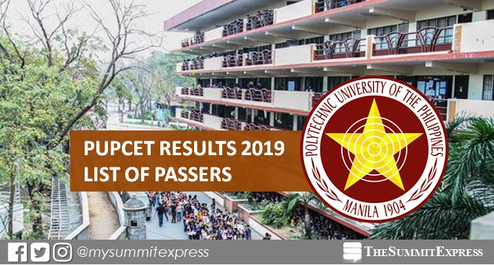 LIST OF PASSERS: PUPCET Results AY 2019-2020 release online
