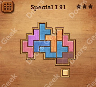 Cheats, Solutions, Walkthrough for Wood Block Puzzle Special I Level 91