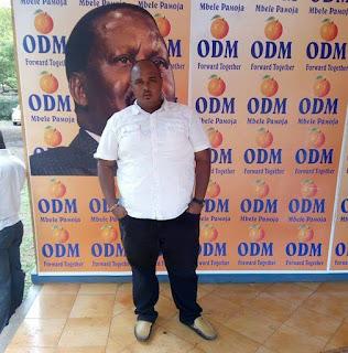 Ghalib Athman at ODM kilifi offices. PHOTO | Courtesy