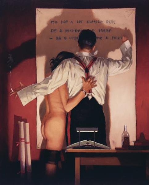 O Grande Poeta - Jack Vettriano e suas pinturas cheias de encontros íntimos