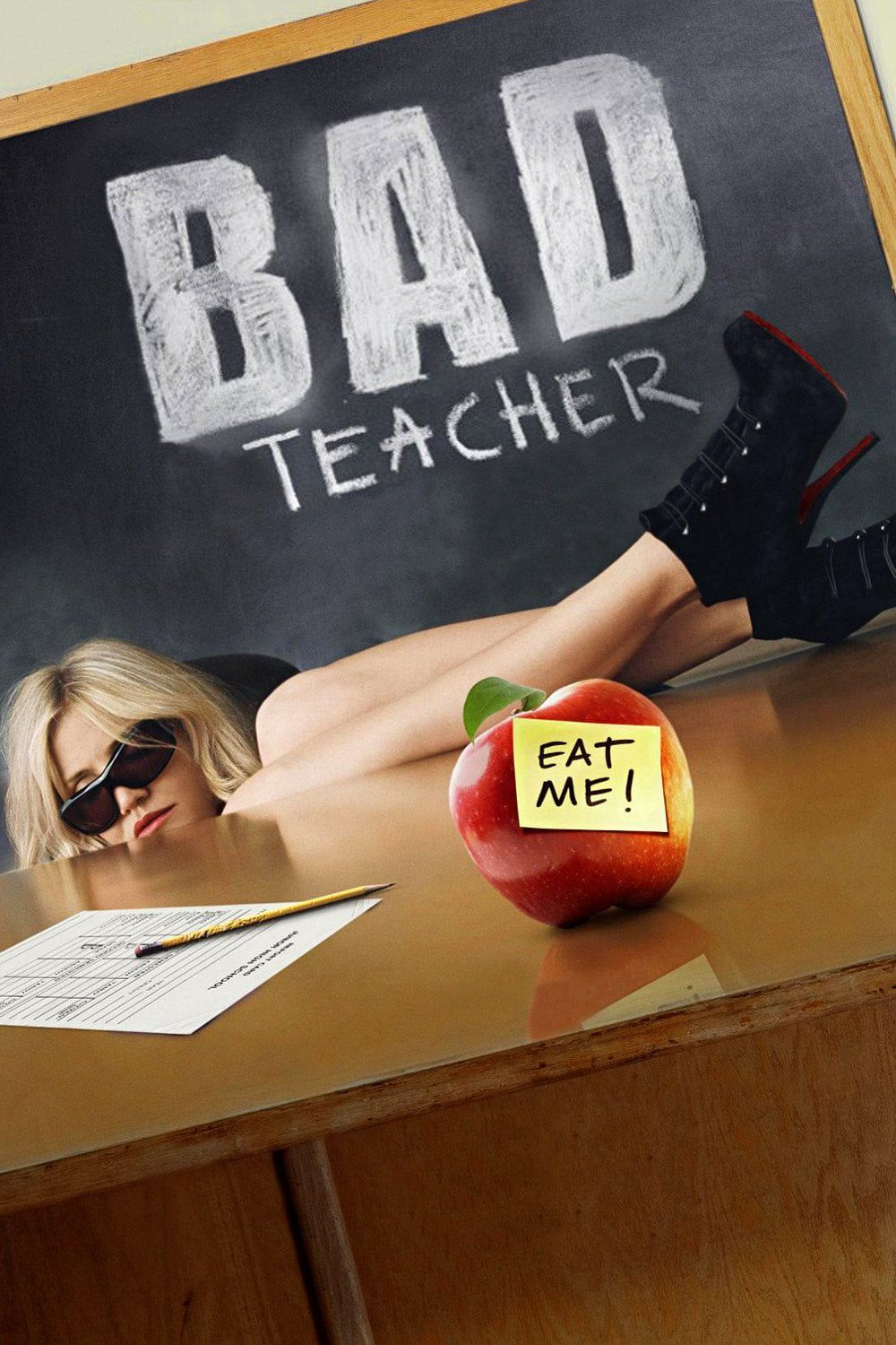 Bad Teacher (2011) UNRATED Dual Audio Hindi 330MB BluRay 480p ESubs