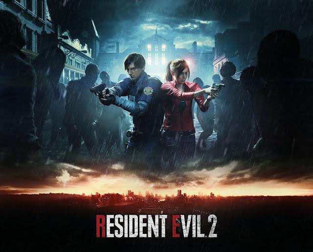 Resident Evil 2 (poster ufficiale del videogioco)