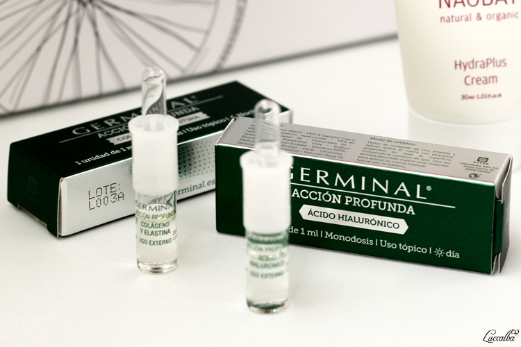 Ampollas Germinal Acción profunda, tratamiento diurno y nocturno.