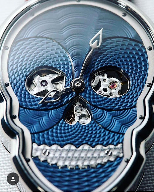 Dial Petit Skull Blue from Fiona Kruger
