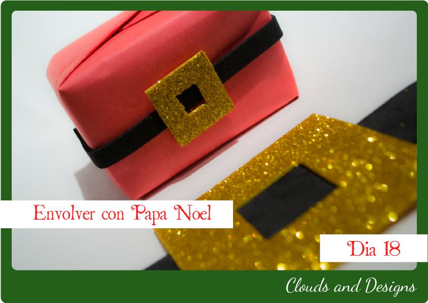 Adviento bloggero dia 18 Envolver Papa Noel