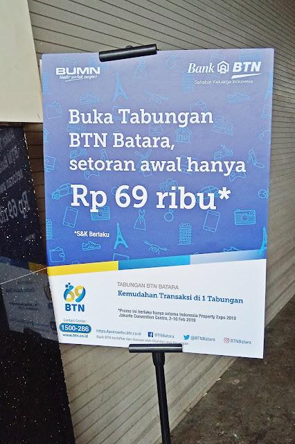 promo tabungan Bank BTN Indonesia Properti Expo 2019