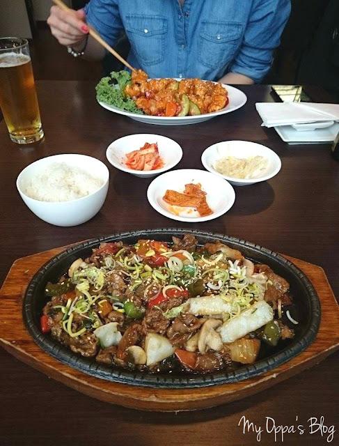 Na obiedzie w restauracji Arirang.