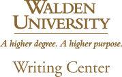 Walden U Writing Center logo