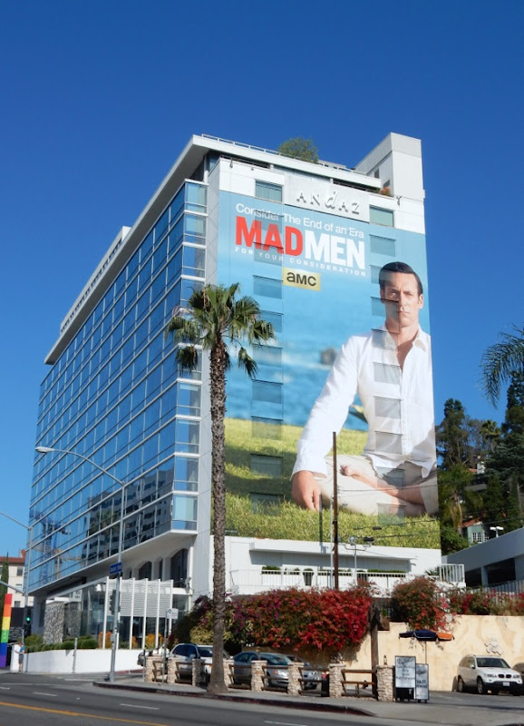 Giant Don Draper Mad Men Emmy billboard Sunset Strip