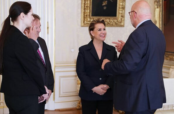 Grand Duchess Maria Teresa received representatives of the Luxembourg City Tourist Office