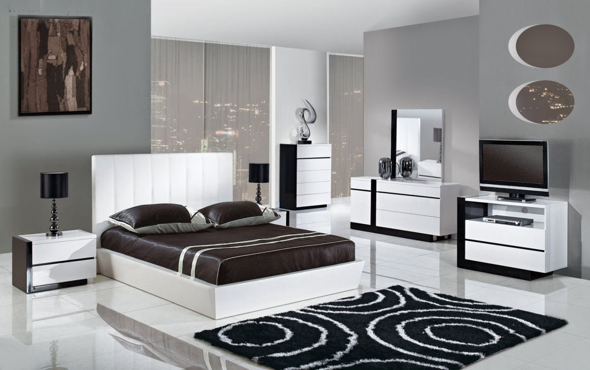 id e d coration chambre noir et blanc. Black Bedroom Furniture Sets. Home Design Ideas