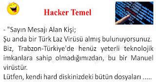 Hacker Temel - Temel Fıkraları - Komikler Burada