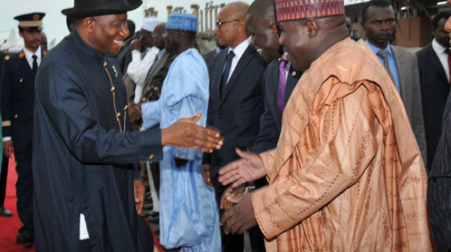 Goodluck Jonathan meets with Ali Modu Sheriff insists PDP 'not factionalised'