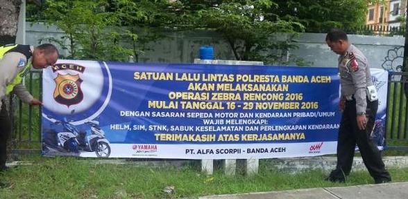 Waspada Besok Operasi Zebra Dimulai di Aceh, Siapkan Surat Kenderaan Anda