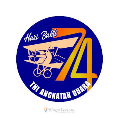 Hari Bakti TNI AU ke-74 Logo Vector