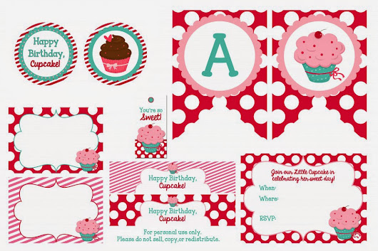 Cupcake Party Printable