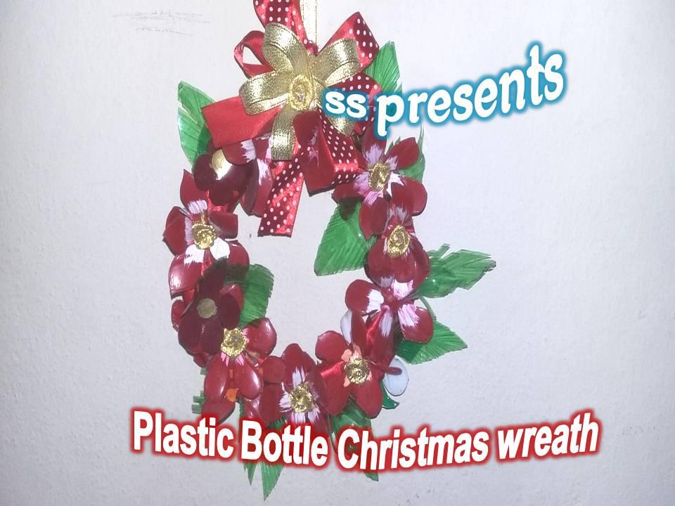 Plastic Bottle Christmas Wreath