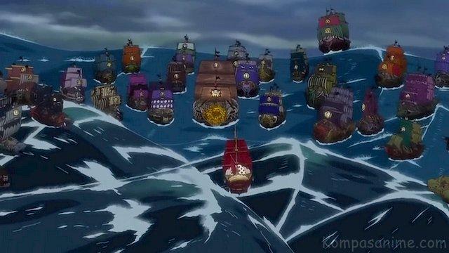 Pertempuran antara Bajak Laut Gold D Roger Vs Shiki Sang Bajak Laut Singa Emas