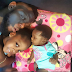 PHOTO: Timaya shows off his daughters, says he's bought a gun