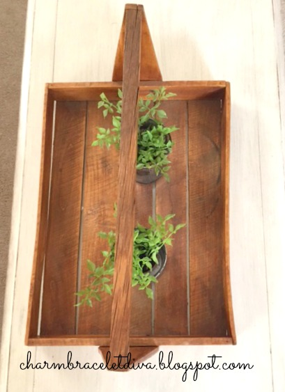 vintage wooden flower trug