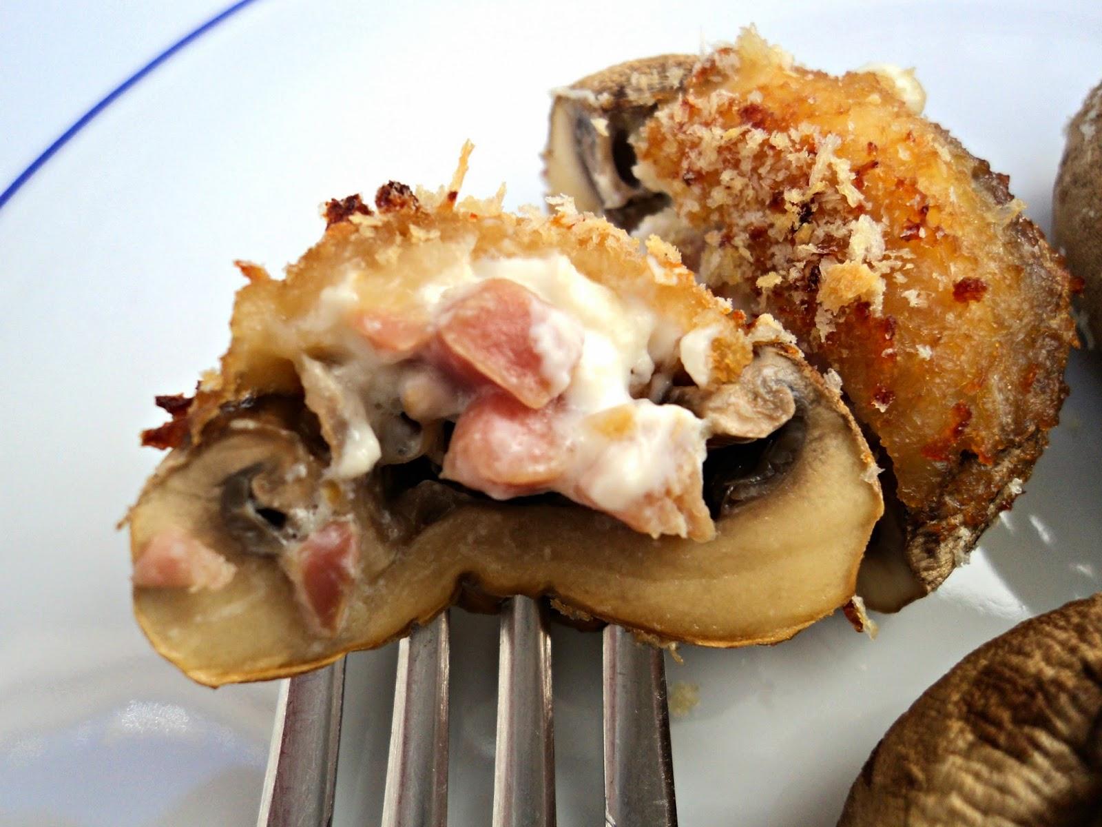 receta casera champiñones rellenos jamón queso