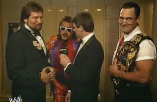 WWF / WWE: WRESTLEMANIA 8 - Money Incorporated (Ted Dibiase and IRS) defended their titles against The Natural Disasters