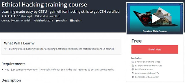[100% Free] Ethical Hacking training course