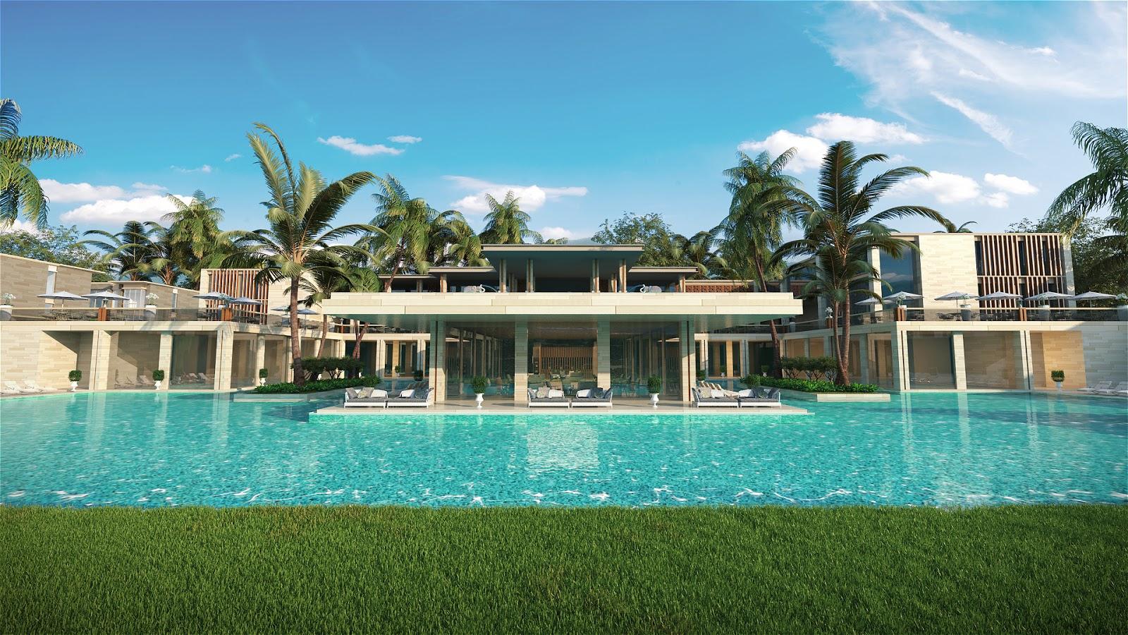 Bể bơi hiện đại tại các khu Villa hạng sang
