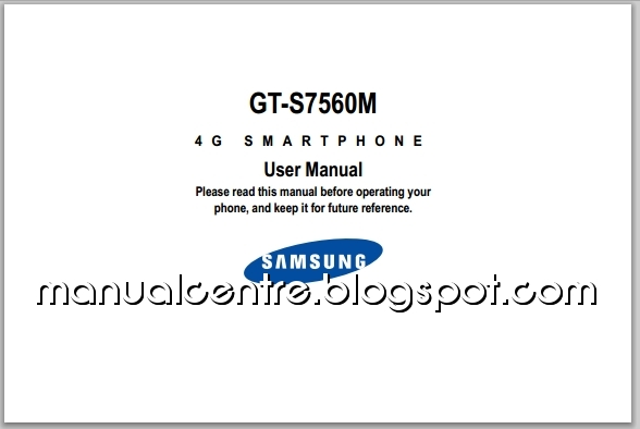 Samsung Galaxy Ace II X Manual Cover