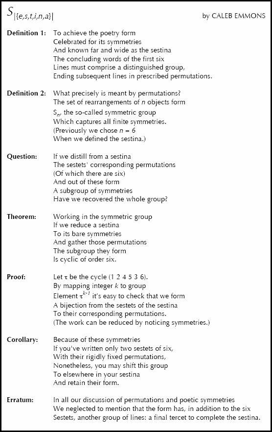 Sestina Poems 7