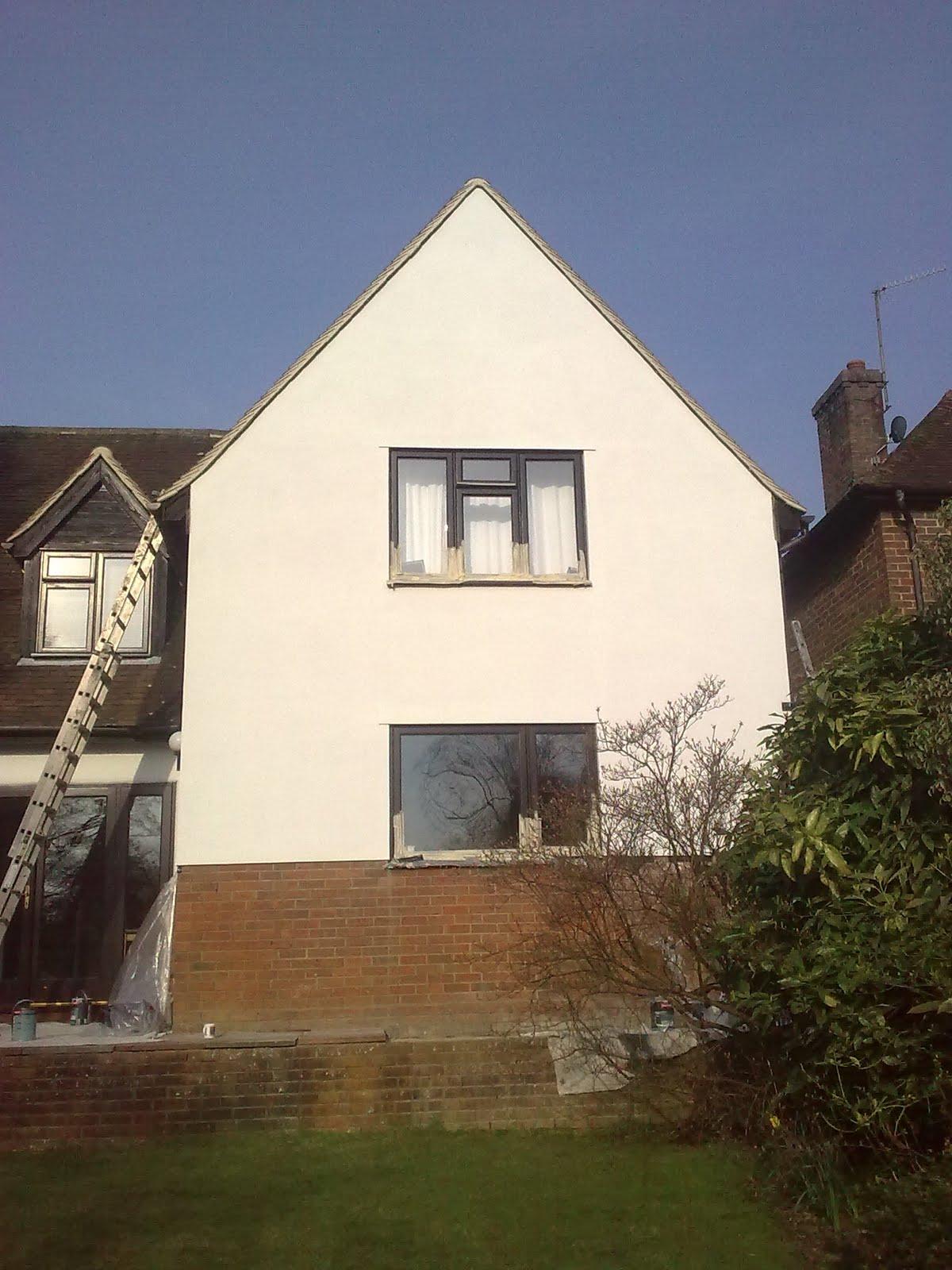 N w decorating exterior rendering johnstone 39 s pliolite - Exterior concrete block finishes ...