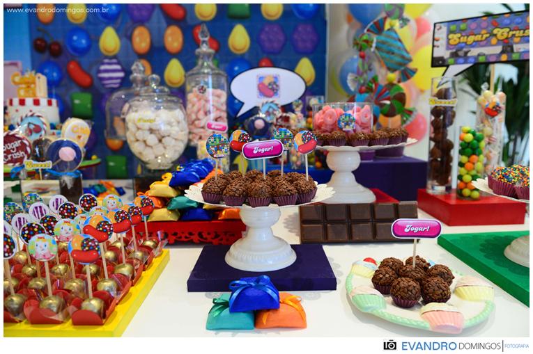 festa candy crush tema doces brigadeiros