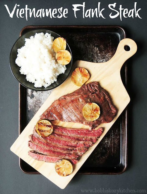 Vietnamese Flank Steak from www.bobbiskozykitchen.com