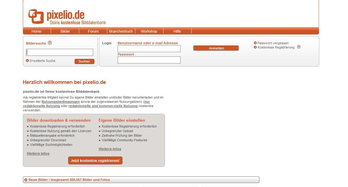 Kostenlose Stock Photos mit Creative Commons Zero Lizenz als freie Bildquellen für deinen Blog - Bilddatenbank Pixelio