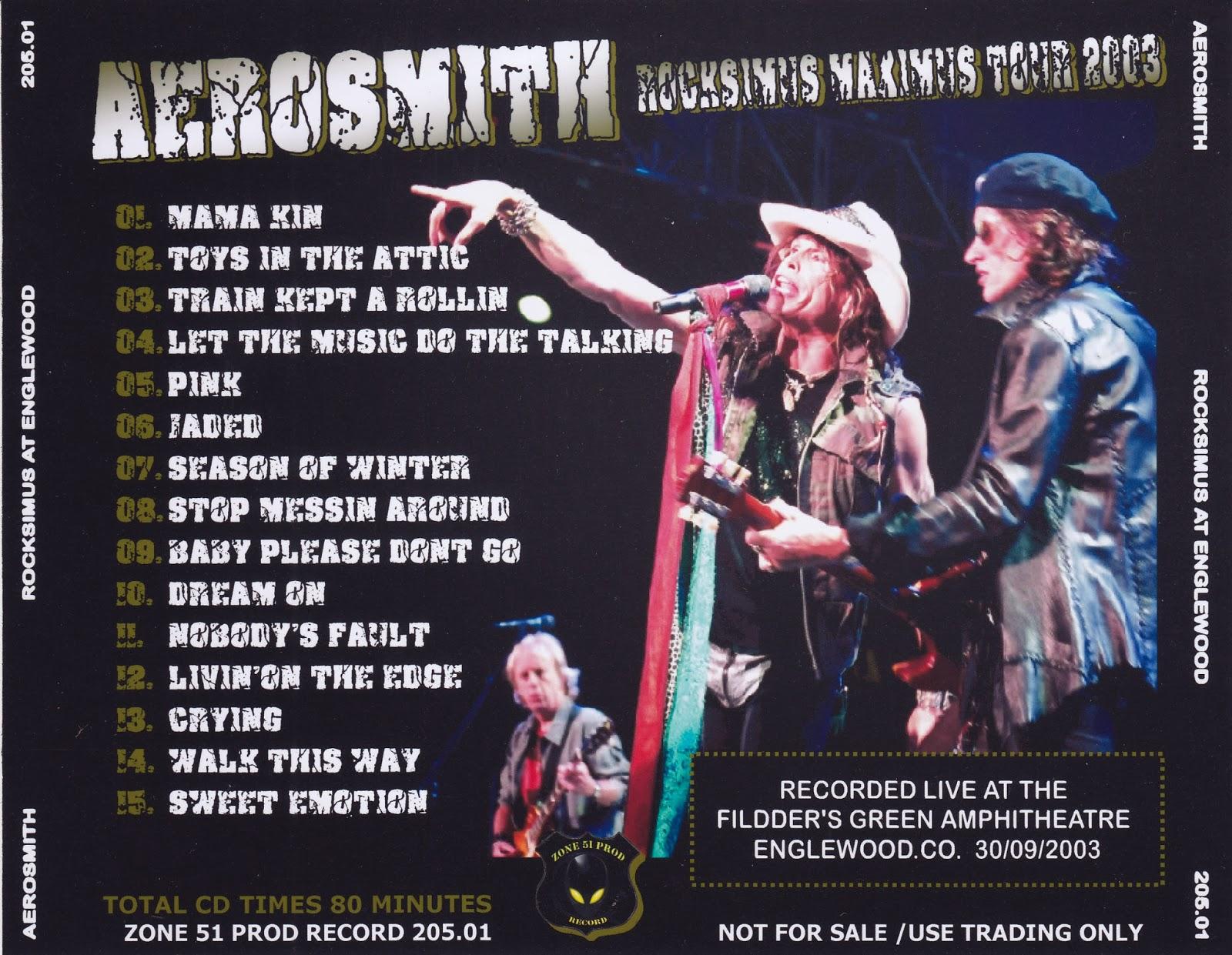 Aerosmith Bootlegs Cover Arts Rocksimus At Englewood