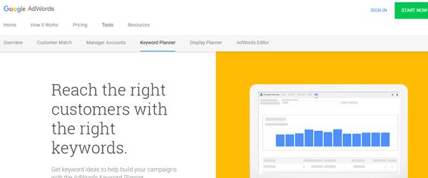 مخطّط الكلمات الرئيسية - Google AdWords