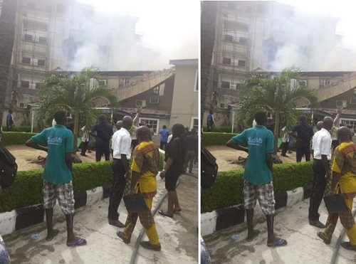 Judge's house razed down by fire(photos)