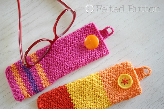 Eyewear Case Free Crochet Pattern by Susan Carlson of Felted Button